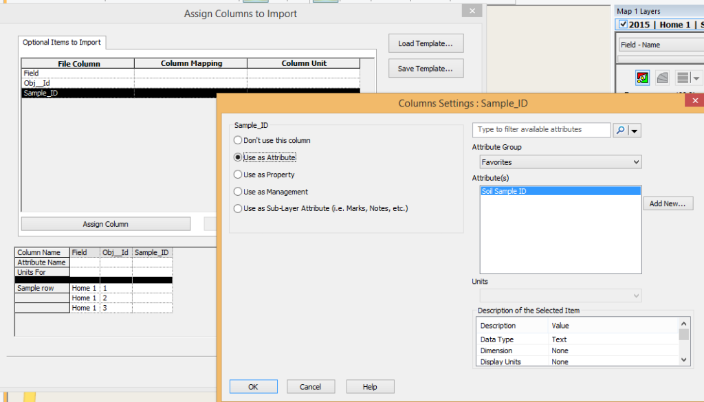SMS Import Assign Soil Sampling Attribute