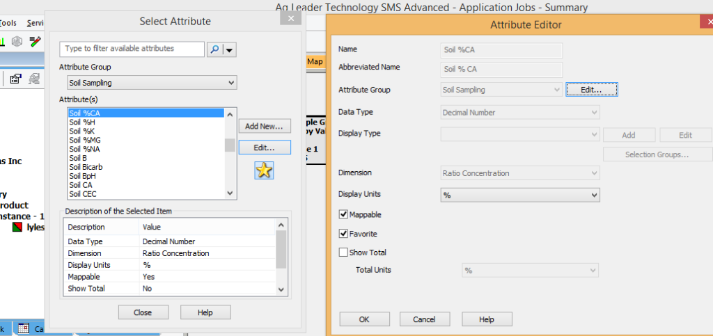 SMS Attribute Editor