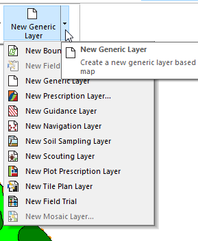 SMS Create New Generic Layer
