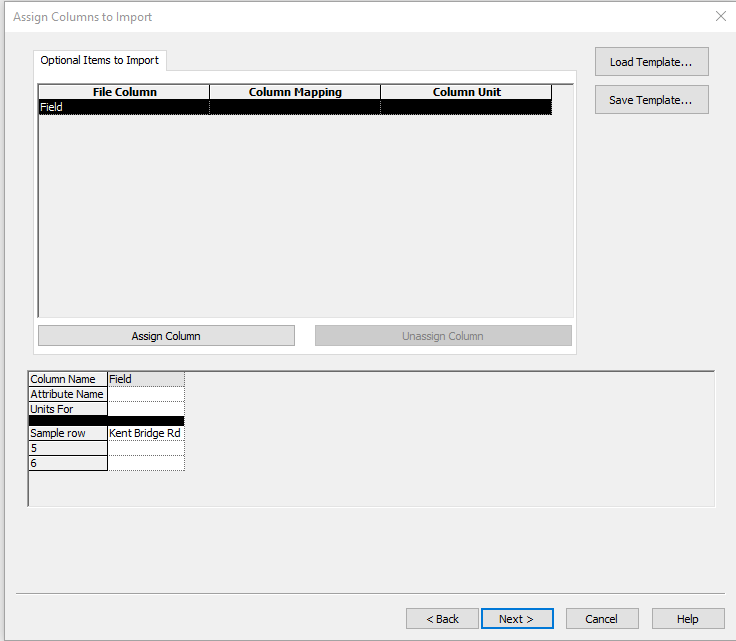 SMS File Import Wizard Attributes