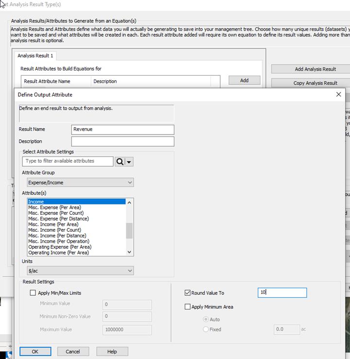 Analysis Wizard-Define Output Analysis and Rounding